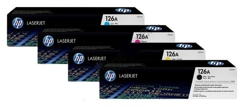 Toner Original HP 126A - Pack 4 Colores BK/C/M/Y