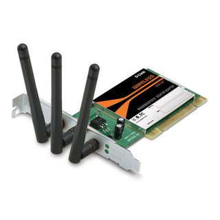 Placa de Rede Wireless PCI D-Link 2.4Ghz, DWA-547