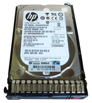 HD HP 500GB 6G SAS 7.2RPM 2,5 G8 G9 P/N: 605832-001