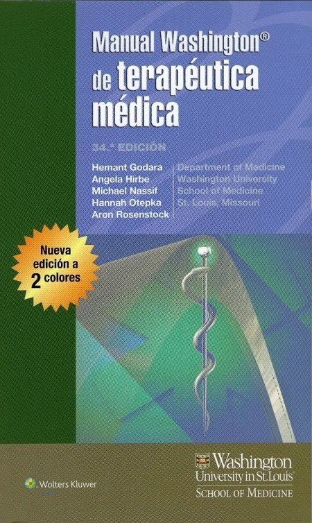 MANUAL WASHINGTON DE TERAPEUTICA MEDICA 34° ED.