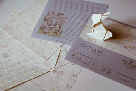 set de papeles de origami Antonio-Papel Diamante