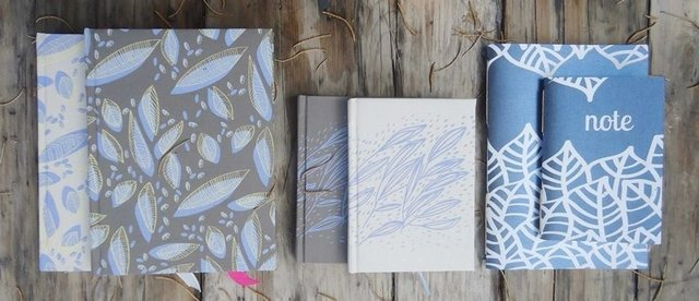 Cuaderno entelado grande Flying leaves