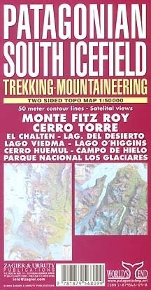 Mapa PATAGONIAN SOUTH ICEFIELD Monte Fitz Roy - Zagier