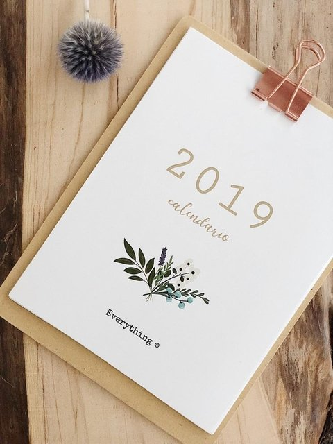 Calendario Everything 2019