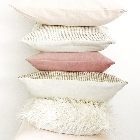 Pack 6 almohadones Everything® Rosa y Crudo