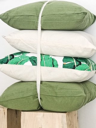Pack 4 almohadones Verde Nature y Crudo