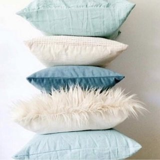 Pack 5 almohadones Everything Crudo y Aqua