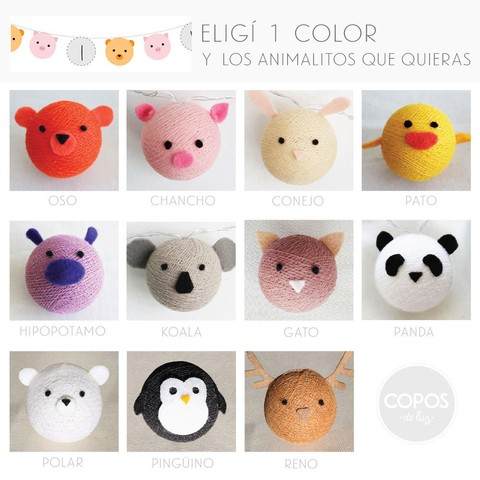 16 Animalitos (+ 9 copos de color) pilas