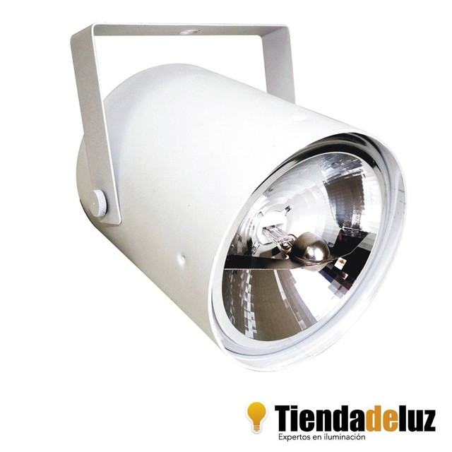 Tacho Ar111 Color Blanco O Negro + Ar111 Led