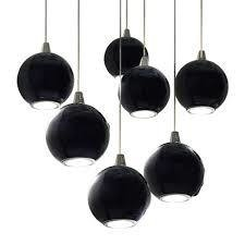 COLGANTE CRISTAL BLACK 7 LUCES + BASE