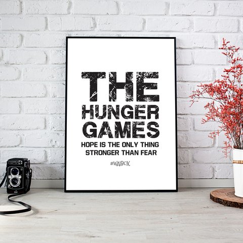 Poster A4 The Hunger Games (Blanco)
