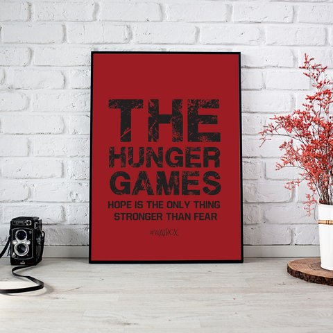 Poster A4 The Hunger Games (Rojo)