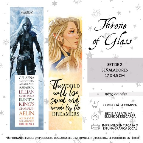 Set Señalador Throne of Glass