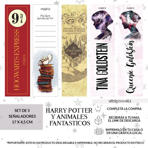 Set Señalador Harry Potter y Animales Fantásticos