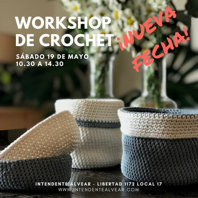 WORKSHOP DE CROCHET 19 DE MAYO - comprar online