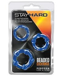 Stay Hard Beaded Cockrings kit 3 - Anillo para pene A1 - Punto Erogeno Sex Shop