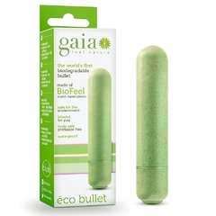 Bala vibradora biodegradable on off  6.8 cm - Gaia eco bullet verde