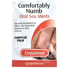 Mentas para sexo oral 2 tabletas - Confortably Numb Oral sex mints cinnamon