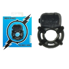 Anillo vibrador negro - The Rock Hero Ring