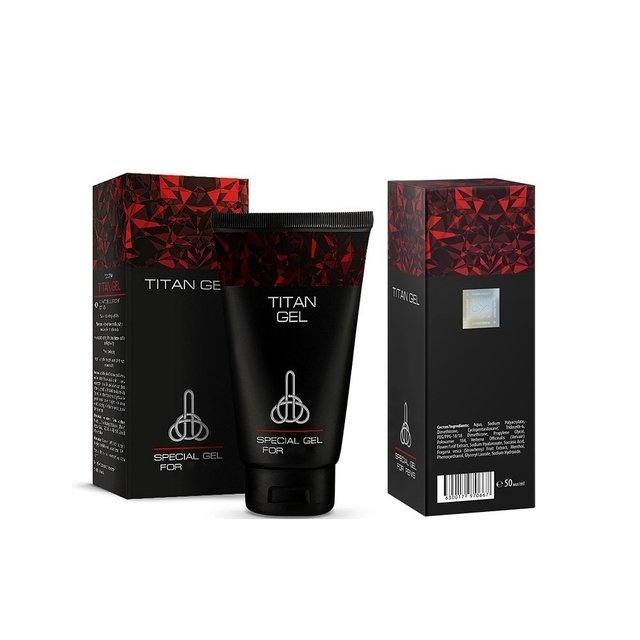 Titan Gel Lubricant for Penis 50 ml - Gel Lubricante para hombre