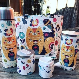 Set de mate love cat