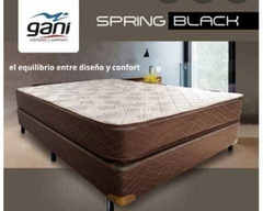 CONJUNTO SOMMIER SPRING BLACK RESORTES