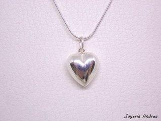 99c51f8a84f7 Conjunto de Cadena y Dije Corazón de Plata Grande