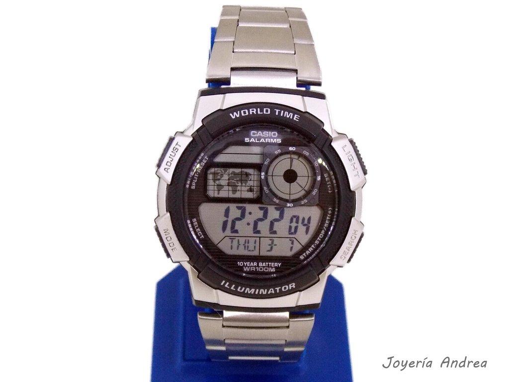 b6a3d6a08d6a Reloj Casio Hombre Digital de Acero - Joyeria Andrea
