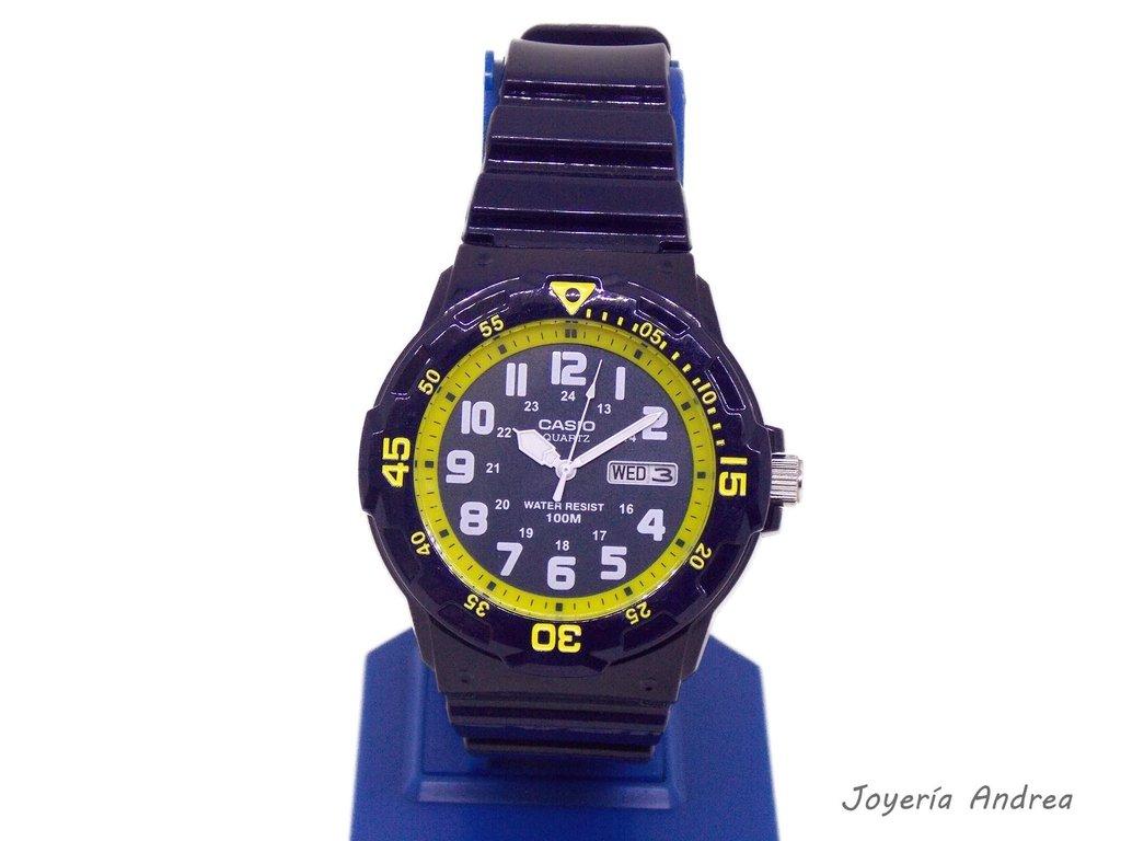 31a6c3835f15 Reloj Casio Hombre Deportivo Azul Amarillo