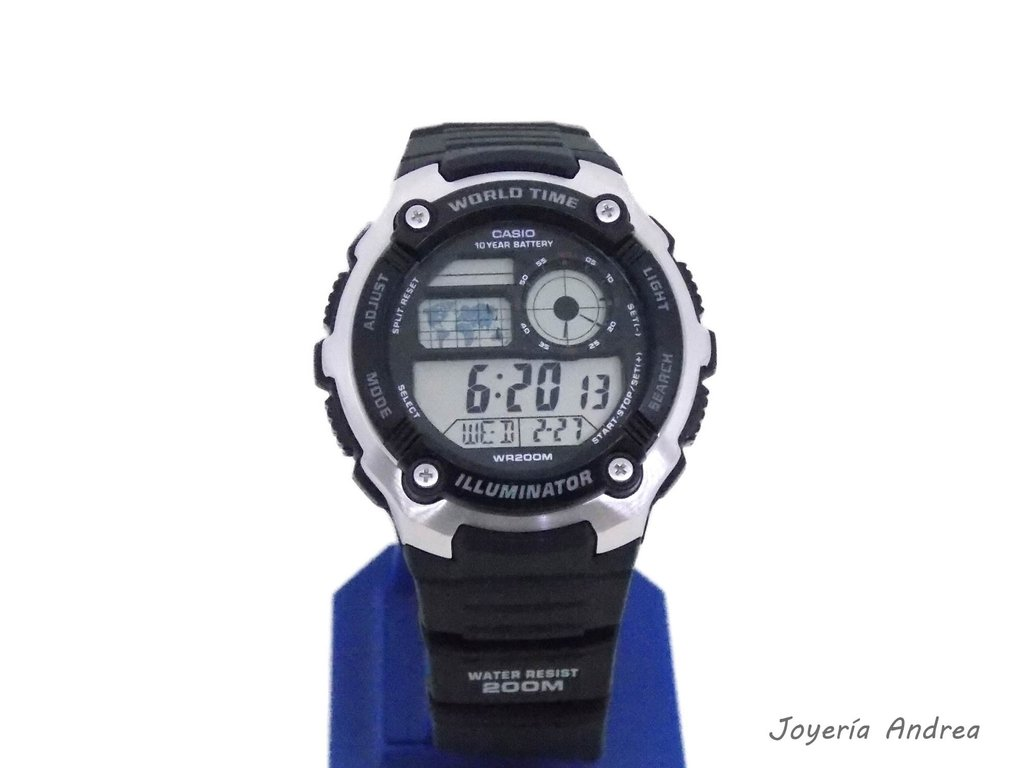 11ebbf07f58d Reloj Hombre Casio Digital Caucho Sumergible 200 Mts.