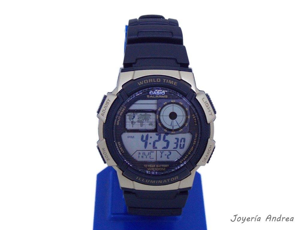3531d1fb7 Reloj Hombre Casio Digital Caucho Combinado con Dorado