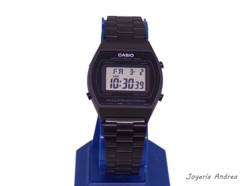 1942b868d538 Reloj Casio Vintage Acero Negro - Joyeria Andrea