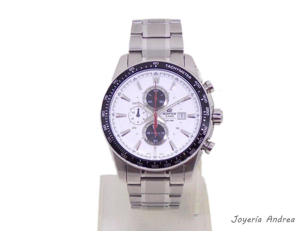cd63aa2a7b2b Reloj Casio Hombre Cronógrafo Edifice - Joyeria Andrea