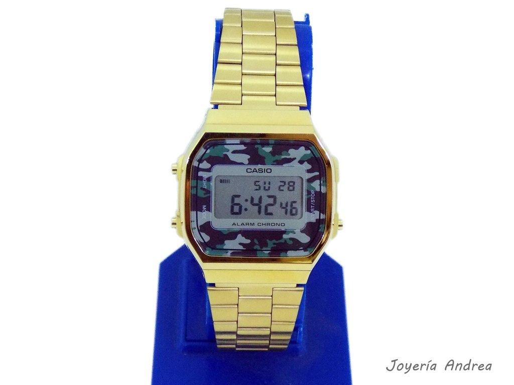 f55d025741f1 Reloj Casio Vintage Dorado y Camuflado - Joyeria Andrea