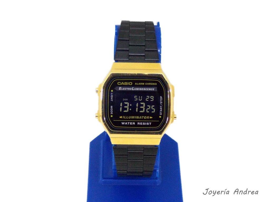 40fa33c5da89 Reloj Casio Vintage Combinado Negro y Dorado