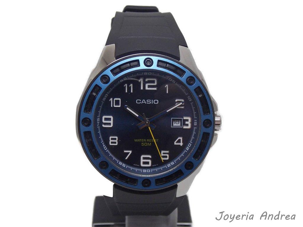 da8f2b33e036 Reloj Hombre Casio de Acero con Correa Caucho