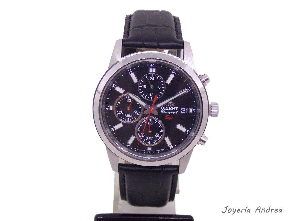 01a53cf0796a Reloj Orient Cronógrafo Hombre Correa de Cuero