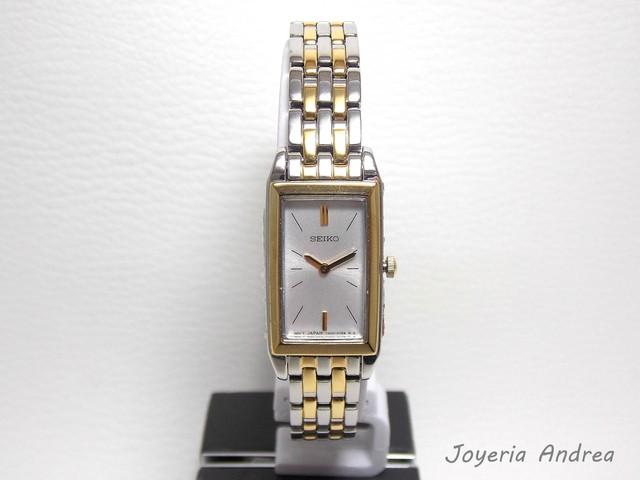 pulcro Moda selección asombrosa Reloj Seiko Mujer Rectangular Combinado