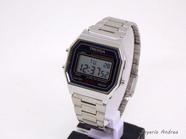 92b400e593be Reloj Unisex Tressa Digital Vintage - Joyeria Andrea