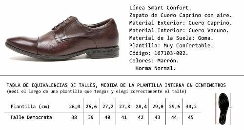 Zapato De Cuero Democrata Air Class 167103 - democrata