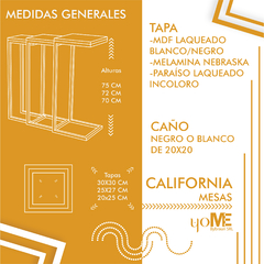 Mesa California (combo) en internet