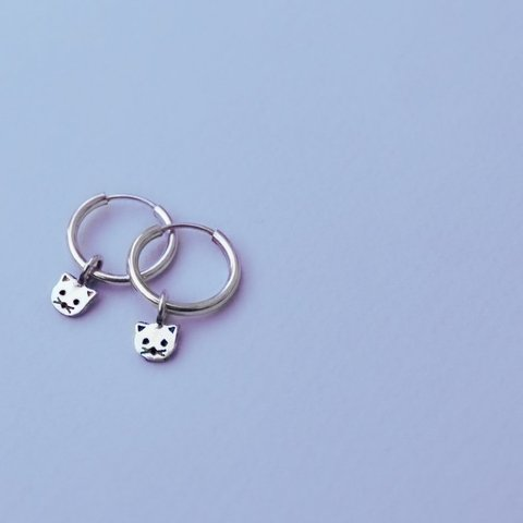 Small Cat Rings Earrings - buy online