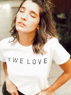 Remera We Love Blanca