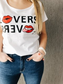 Remera Lovers blanco