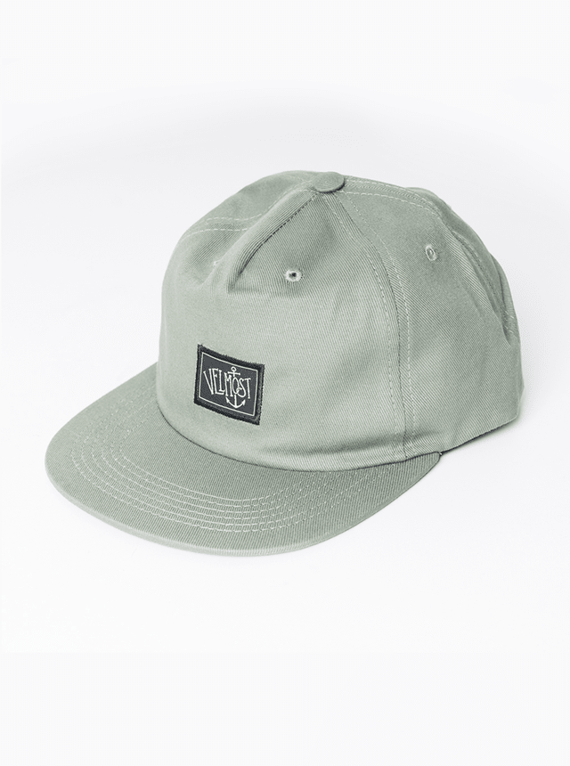 Green unstructured hat - comprar online