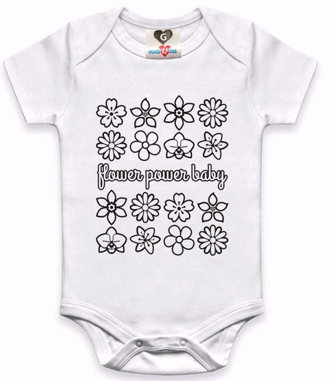 Body / Camisetinha Flower Power Baby