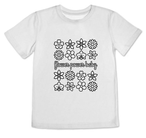 Body / Camisetinha Flower Power Baby - comprar online
