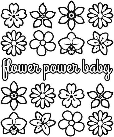 Body / Camisetinha Flower Power Baby na internet