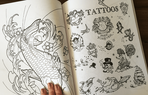 Livro Colorindo Tatoo na internet