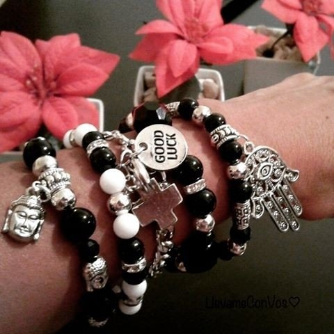 Pulsera Black and White # Promo - LlevameConVos♥